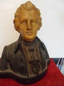 Buste de Wolfgang Amadeus Mozart en plâtre