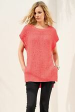 BNWT NEXT Coral Pink Sleeveless Jumper Size S Small RRP £36