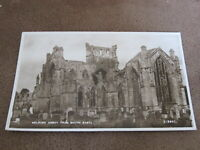 1950 fr Real Photographic Postcard - Melrose Abbey