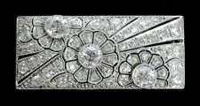 EXQUISITE PLATINUM & 2.8 CT DIAMOND BAR BROOCH