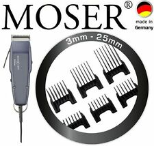 MOSER Cortapelos Profesional AZUL+6 Peines 0,1mm-25mm NUEVO