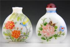 Two (2) Peking Glass Snuff Bottles Used