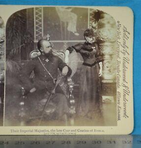 1890s Stereoview Photo Russia Their Imperial Majesties The Late Czar & Czarina