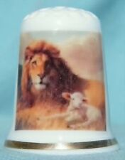 Lion and the Lamb - Bone china thimble