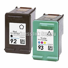 2 PACK REMANUFACTURED HP 92 93 ink cartridge REMAN HP 92 HP 93 HP92 HP93