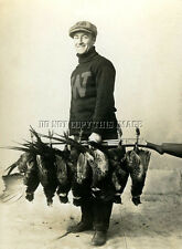 ANTIQUE HUNTING REPRO 8X10 PHOTOGRAPH MAN WINCHESTER MODEL 1897 PHEASANTS