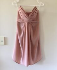 BNWT ZIMMERMANN 100% SILK rose Gold Nude Pink Cocktail Formal Dress Sz 1 (10 S M
