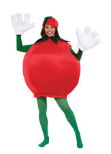 ADULTS UNISEX COMICAL FRUIT RED TOMATO MASCOT SMOCK STYLE COSTUME - ONE SIZE