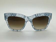 New Dolce & Gabbana D&G DG 4231 2853/13 Clear/Blue Lace 54mm Sunglasses