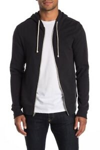 Fundamental Coast Men's Ultimate Zip Fleece Hoodie Black Size Large L