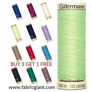 Gutermann Thread 100m Sew All 100% Polyester Sewing Thread Over-locker/Machine