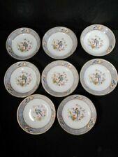 P T Bavaria Tirschenreuth Set Of 8 Bowls  -  Florida Pattern  - Made in Germany