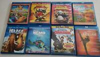 Childrens Movie Blu-ray Lot of 8 Disney Finding Nemo, Kung Fu Panda, Ice Age