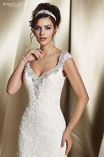 Ronald Joyce Wedding Dress RUTA Size 12* More like a 10 Cream NEW!!!