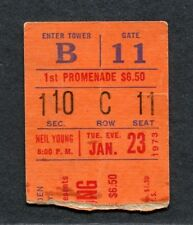 Original 1973 Neil Young Concert Ticket Stub New York NY Harvest Time Fades Away
