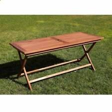 Tavolo rettangolare in legno teak 170x70 cm richiudibile da giardino