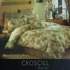 4 PC CROSCILL HOME FANDANGO TROPICAL NATURE PRINT KING COMFORTER SET 110x96  NEW