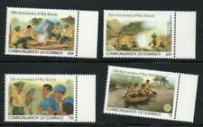 DOMINICA 1982 MNH BOY SCOUTS COOKING CANOEING INDIAN RIVER PARROT