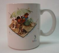 VINTAGE 1987 Norman Rockwell Museum FISHERMAN'S PARADISE BOYS FISHING MUG CUP