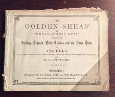 The Golden Sheaf Of Sunday School Music(1874,Softcover)Asa Hull PreOwnedBook.com