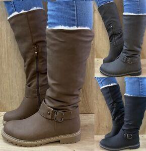 Damen Stiefel warm gefüttert Winter Boots Stiefeletten Schnee Schuhe ST81 NEU
