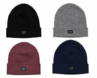 Jack & Jones Mens New Beanie Hat Wooly Winter Hat Black Navy Grey Burgundy