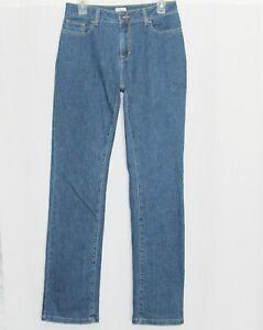 LL BEAN Jeans Womens 8 Medium Tall Classic Fit Denim Pants Ladies MT Long L.L.