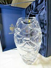 "Faberge Atelier Cut Crystal Vase in Original Presentation Box ""Pine Cone� Signed"