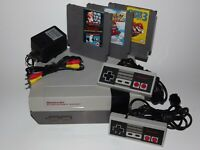 Nintendo NES System Console Super Mario Bros 1 2 3 Game Bundle with New 72 Pin