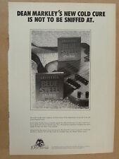 vintage magazine advert 1989 DEAN MARKLEY BLUE STEEL