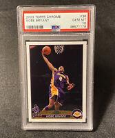 Kobe Bryant 2003 Topps Chrome #36 PSA 10 Gem Mint Iconic LeBron James Rookie Set