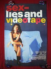SEX, LIES AND VIDEOTAPE * 1989 ORIGINAL MOVIE POSTER U.K. SEXY LAURA SAN GIACOMO