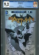 Batman #0  New 52 (Sketch cover)  CGC 9.2  White Pages