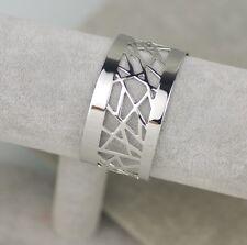Nice lia sophia signed jewelry  silver plated polish wide cuff bracelet Bangle