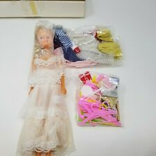 Vintage Interpur Bridal Doll Set 75 pc. Clothes Cute Accessories Hangers China