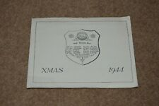Vintage 49th Division WEST RIDING Infantry Division 1944 Christmas card