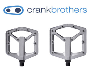 Crank Brothers Stamp 3 Small or Large, Charcoal Grey MTB Platform Pedals