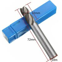 5x HSS CNC Straight Shank 4 Flute End Mill Cutter Drill Bit 4/6/8/10/12mm Set