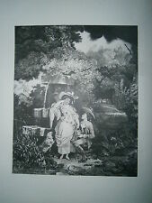Planche gravure  Louis Philibert debucourt heur et malheur de la cruche cassée
