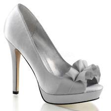 Scarpe da donna spilliamo tessile in argento