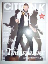 Magazine mode fashion CITIZEN K international french automne 2006 J. Timberlake