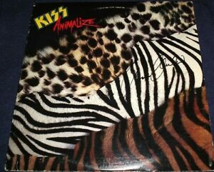 """KISS SIGNED BRUCE KULICK RECORD TITLED """"ANIMALIZE"""" AWESOME! L@@K! GUITAR WIZARD!"""