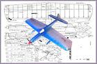 "Model Airplane Plans (UC): ENVOY 31"" Wingspan ½A Stunter by Edwin Hunt"