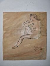 Pablo Picasso Original Ink Painting On Paper Hand Signed Gallery Stamp Verso