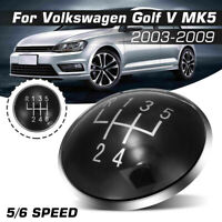 6 Speed Gear Shift Knob Stick Emblem Badge Cap For Volkswagen Golf V MK5 03-09
