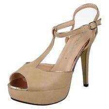 Zapatos de tacón de mujer de color principal blanco sintético Talla 38.5