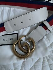 Gucci Sylvie Web Double G Buckle Belt 85cm New In Box