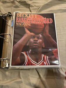 Beckett Bask Card Monthly Magazine (Issues #1 - #10 NM Condition  W/Binder