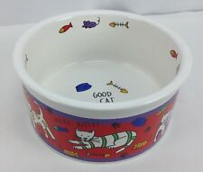Vintage Riviera Van Beers GOOD CAT Dish Kitty Bowl Stoneware RETIRED