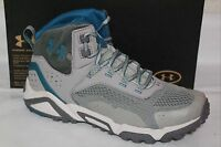 UNDER ARMOUR UA GLENROCK MID WOMENS HIKING BOOT, SIZE 11, GREY/BLUE 1254921 050